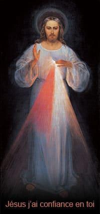 Tableau de Jésus Miséricordieux peint à Vilnius