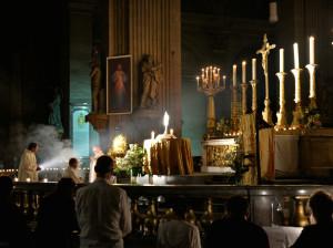 Premier vendredi du mois à l'église Saint-Sulpice, adoration du Saint Sacrement