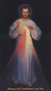 Tableau de Jésus Miséricordieux après la restauration professionnelle de 2003 - Jésus j'ai confiance en Toi