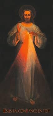 Christ Miséricordieux après la restauration de 1986 - Jésus j'ai confiance en Toi