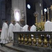 De nombreux prêtres ont concélébré la messe