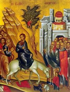 Entrée triomphale du Christ à Jérusalem