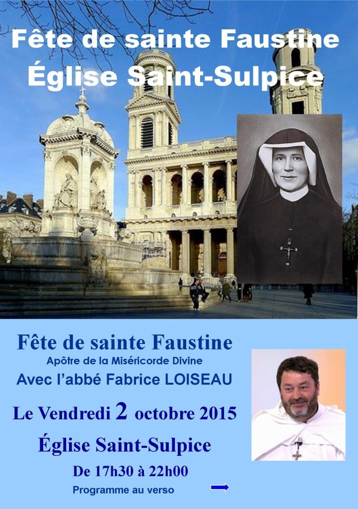 Fête de sainte Faustine 2015