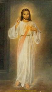 Tableau de Jésus Miséricordieux 1955 Miséricorde-Osny