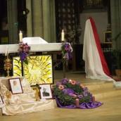 Les reliques de sainte Faustine, saint Jean-Paul II et du bienheureux Michel sopocko