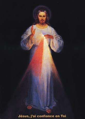 Miséricordieux peint par Eugène Kazimirowski en présence de Sainte Faustine