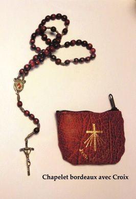 Chapelet à la miséricorde divine - couleur bordeaux
