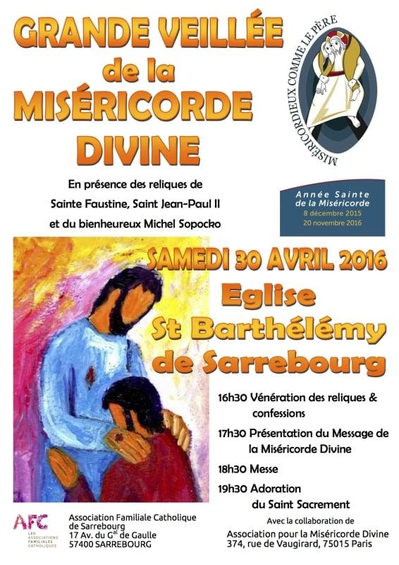 Affiche veillée miséricorde Sarrebourg