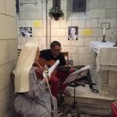 Soeurs de Saint Jean ont magnifiquement animé la soirée du 14 août, avec Renaud à la guitare