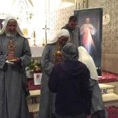 Vénération des reliques le 14 août dans l'église paroissiale