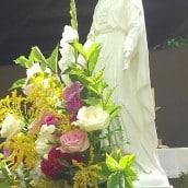 Procession avec la Vierge Marie