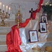 Reliques de saint Jean Paul II, du bienheureux Michel Sopocko et de sainte Faustine
