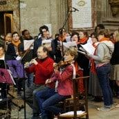 La chorale et les musiciens